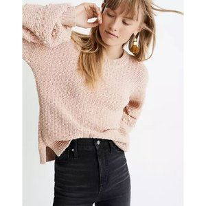 Madewell Sycamore Bobble Pullover Sweater Pink S